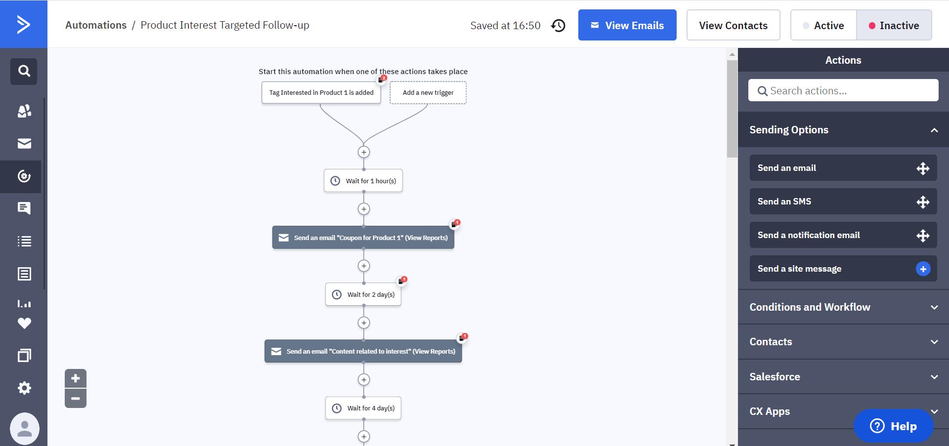voorbeeld automation